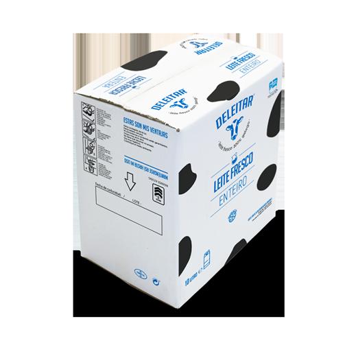 Caja leche entera 10 litros Deleitar