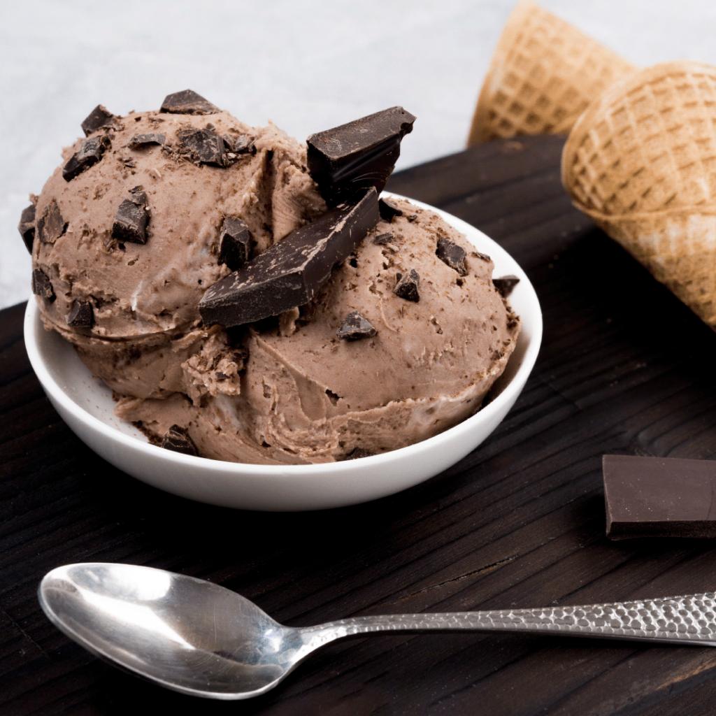 Helado de chocolate casero